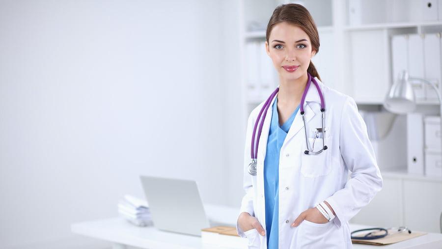 Krzesło do pracy zdalnej z patentem medycznym - lekarz