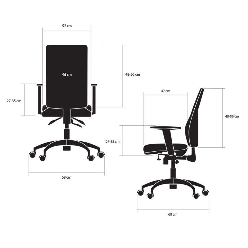 fotele biurowe ergonomiczne kulik system business wymiary