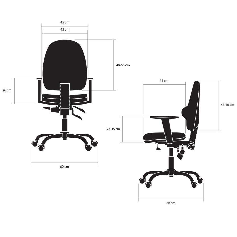 fotele biurowe ergonomiczne kulik system classic pro wymiary