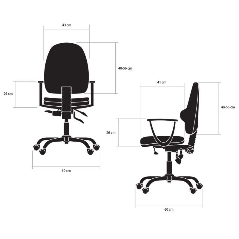 fotele biurowe ergonomiczne kulik system classic wymiary