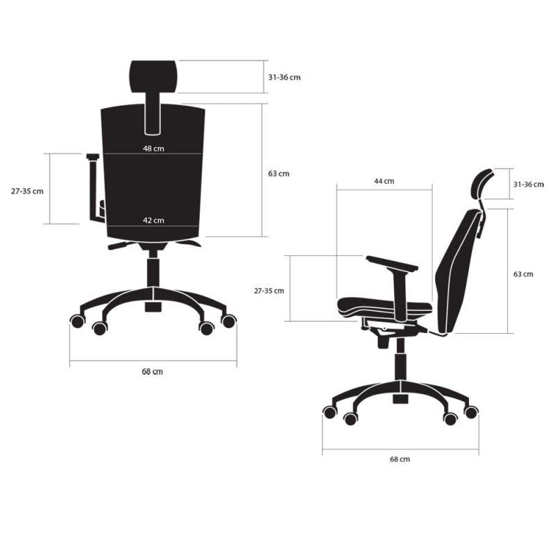 fotele biurowe ergonomiczne kulik system elegance wymiary