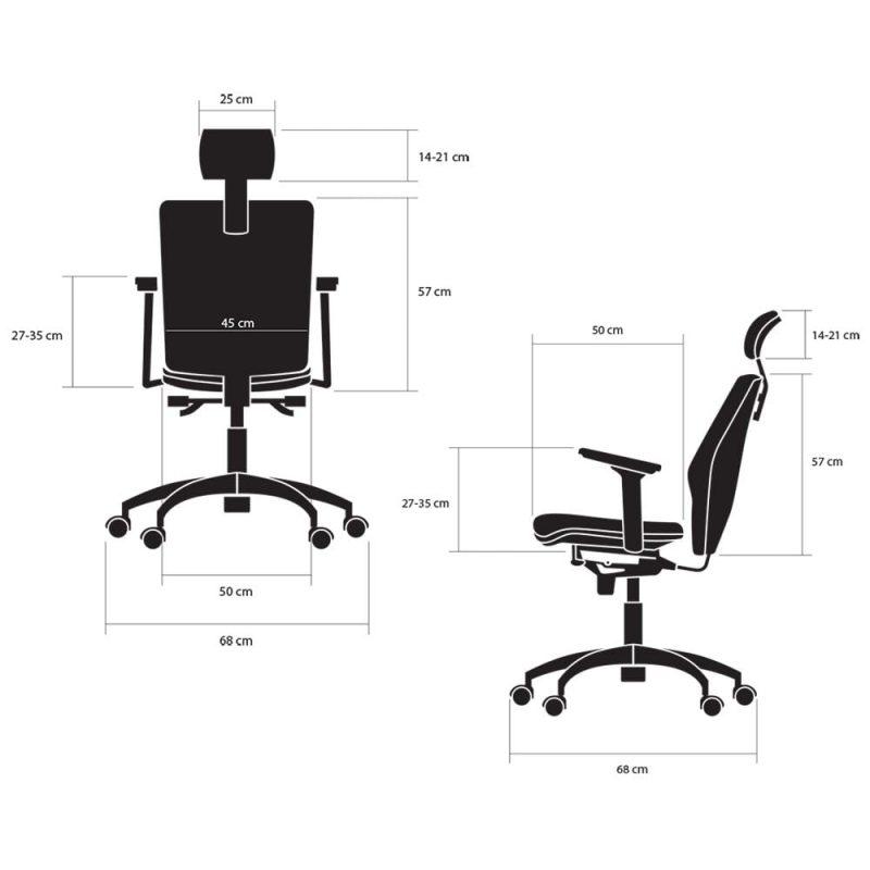 fotele biurowe ergonomiczne kulik system galaxy wymiary