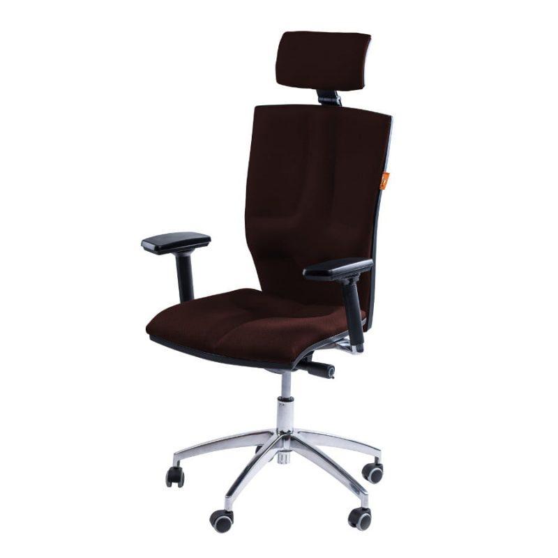 Fotel biurowy Kulik System Elegance Bronze T-23 brązowe