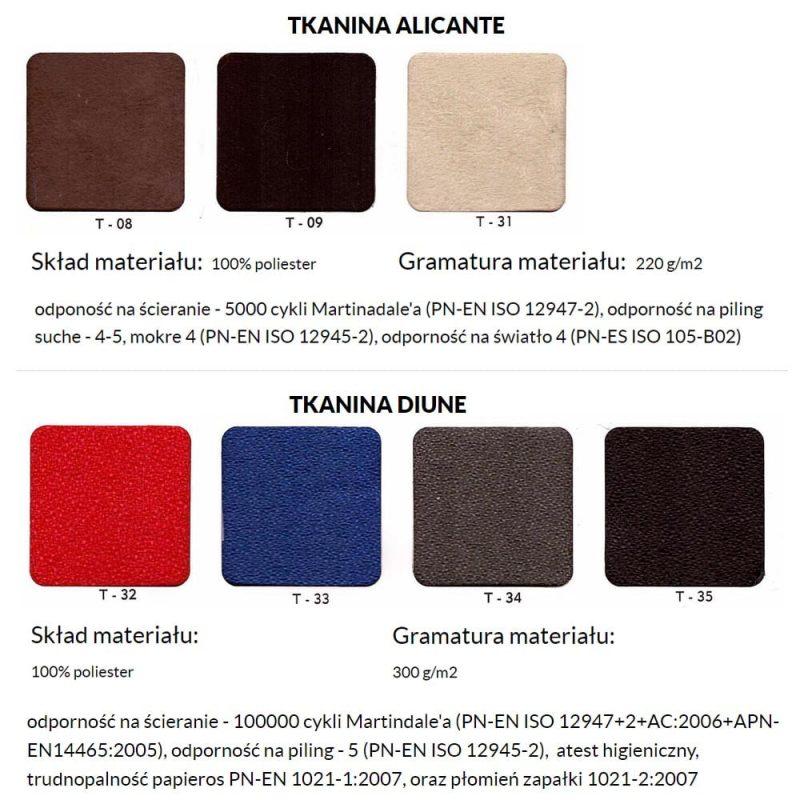Fotele biurowe ergonomiczne kulik system kolor alicante diune