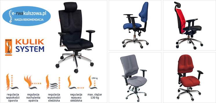 ergonomiczne krzesła biurowe Kulik System