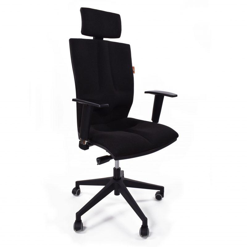 Krzesło biurowe Kulik System Elegance Czarne