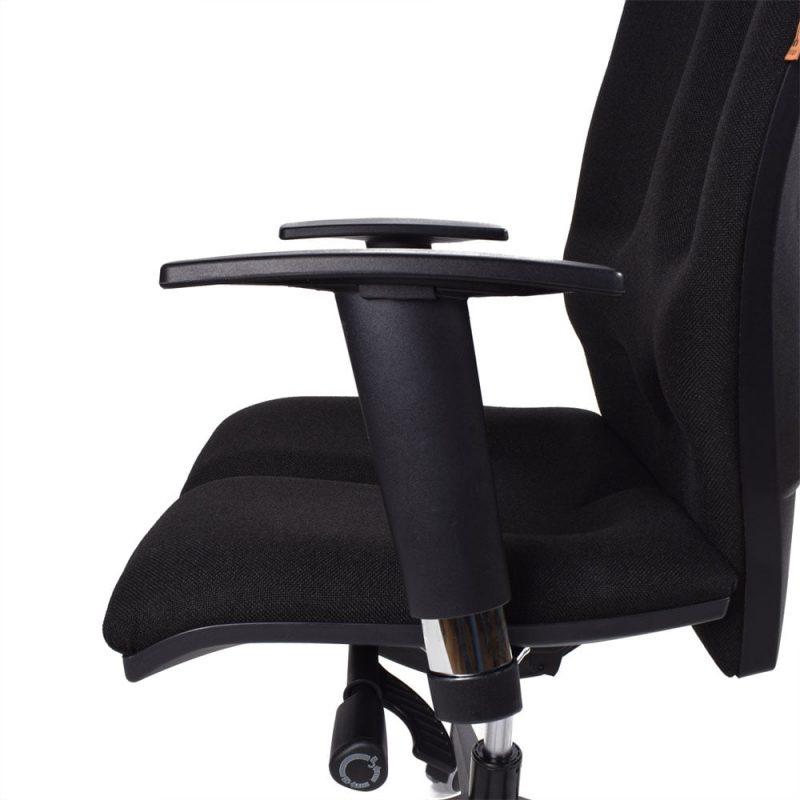 podłokietniki w fotelu Kulik System Elegance Czarne - podłokietnik
