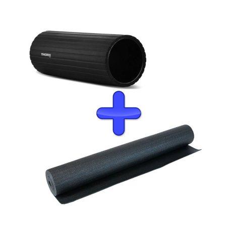 zestaw mata do cwiczen fitnessu jogi roller thorn MTR basic