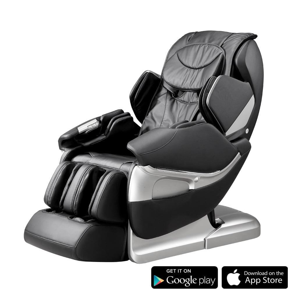 Fotel Masujący Rubinetto Czarny Masaż Relaksacyjny