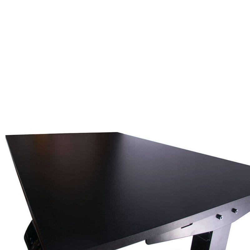 Biurko regulowane elektrycznie Fly-Desk blat prosty stelaż Basic czarno-czarne 1