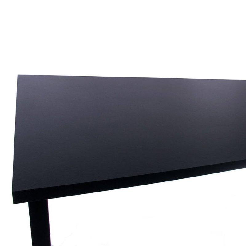 Biurko regulowane elektrycznie Fly-Desk blat prosty stelaż Basic czarno-czarne 2