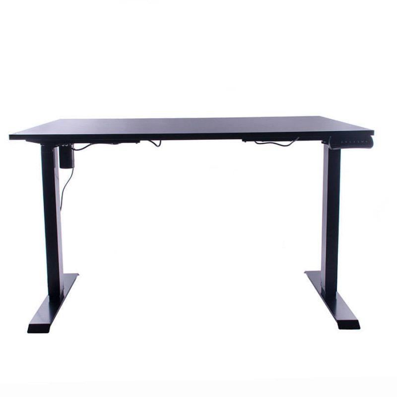 Biurko regulowane elektrycznie Fly-Desk blat prosty stelaż Basic czarno-czarne 3