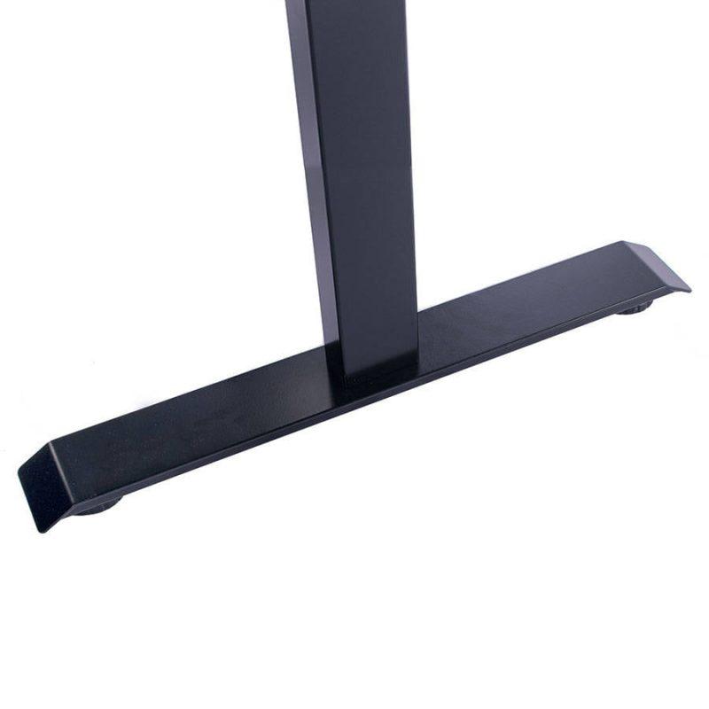 Biurko regulowane elektrycznie Fly-Desk blat prosty stelaż Basic czarno-czarne 5