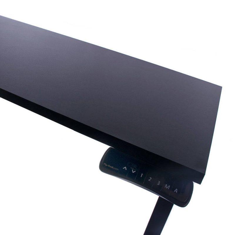Biurko regulowane elektrycznie Fly-Desk blat prosty stelaż Basic czarno-czarne 6