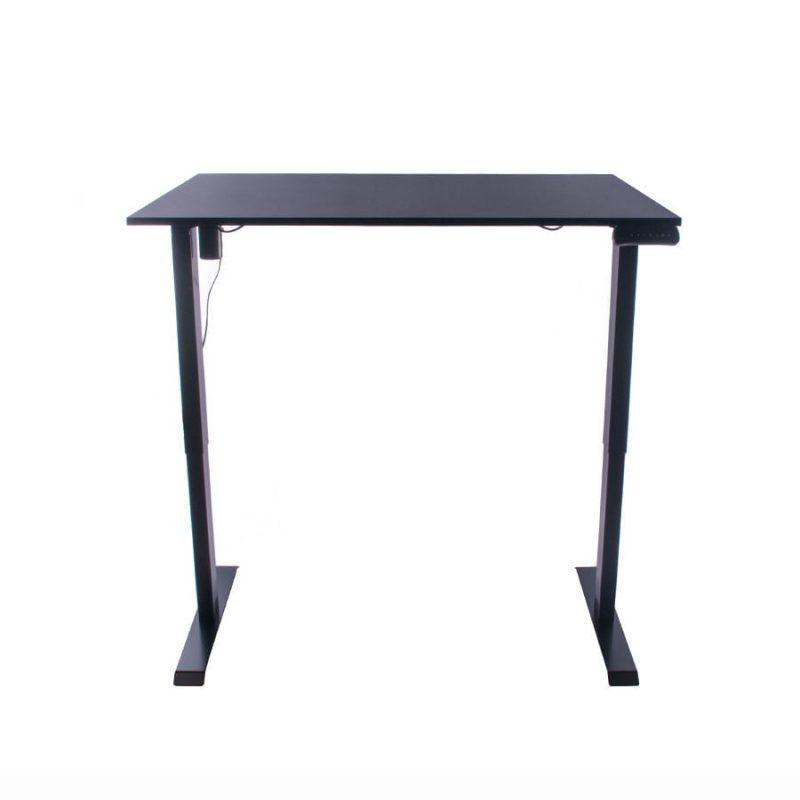 Biurko regulowane elektrycznie Fly-Desk blat prosty stelaż Basic czarno-czarne 7