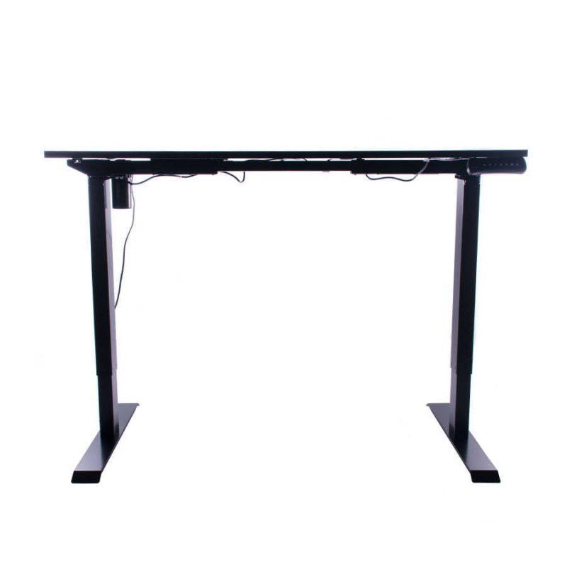 Biurko regulowane elektrycznie Fly-Desk blat prosty stelaż Basic czarno-czarne 8