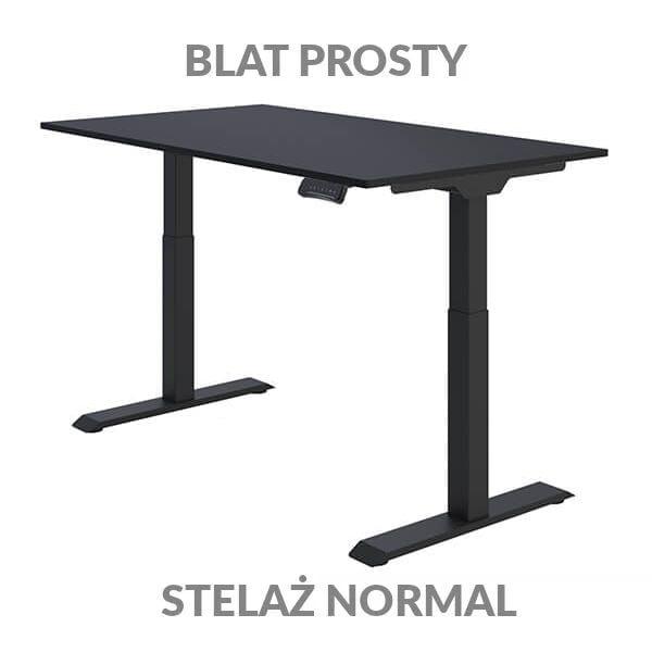 Biurko regulowane elektycznie Fly Desk Blat Prosty Czarny / stelaż NORMAL Czarny Narożnik prosty