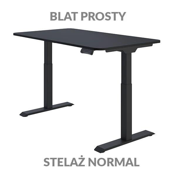 Biurko regulowane elektycznie Fly Desk Blat Prosty Czarny / stelaż NORMAL Czarny Narożnik zaokrąglony