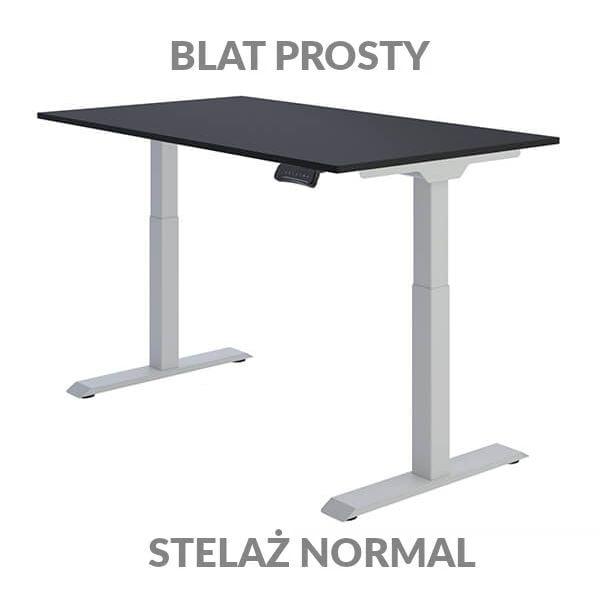 Biurko regulowane elektycznie Fly Desk Blat Prosty Czarny / stelaż NORMAL Szary Narożnik prosty
