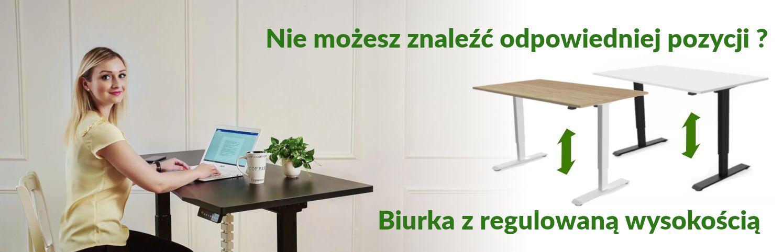 Biurka z regulowaną wysokością blatu - biurka elektrycznie regulowane Fly-Desk