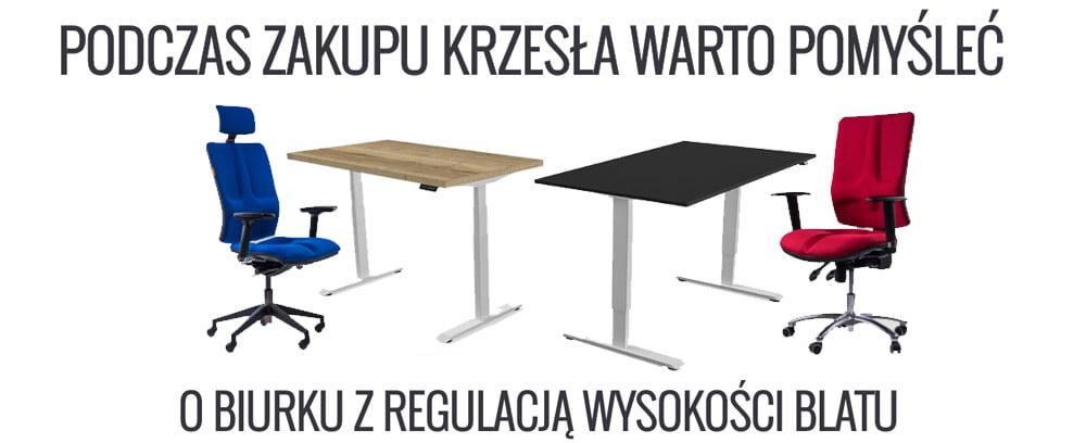 Biurko regulowane z fotelem ergonomicznym - Zestaw