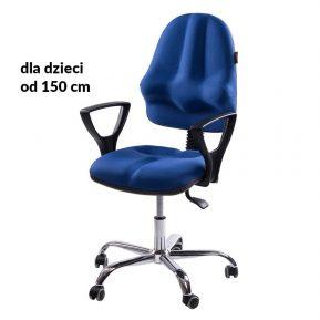 Krzesło ergonomiczne dla dziecka Kulik System Classic Niebieskie