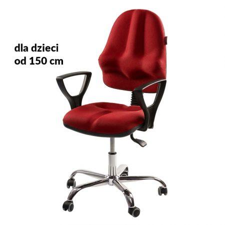 Krzesło ergonomiczne dla dziecka Kulik System Classic Czerwone