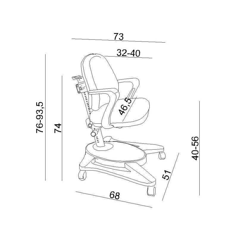 Wymiary Fotela ergonomicznego dla dziecka Unique Gabby