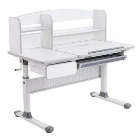 Biurko regulowane dla dziecka Fun Desk Cubby Rimu Grey Szare