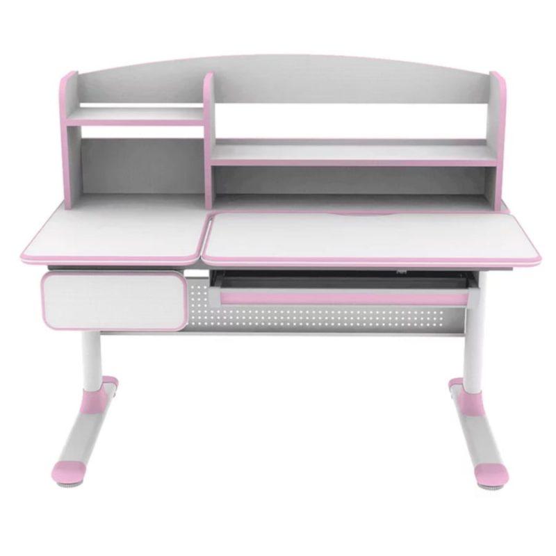 Biurko regulowane dla dziecka Fun Desk Cubby Rimu Pink z przodu