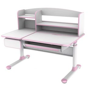 Biurko regulowane dla dziecka Fun Desk Cubby Rimu Pink