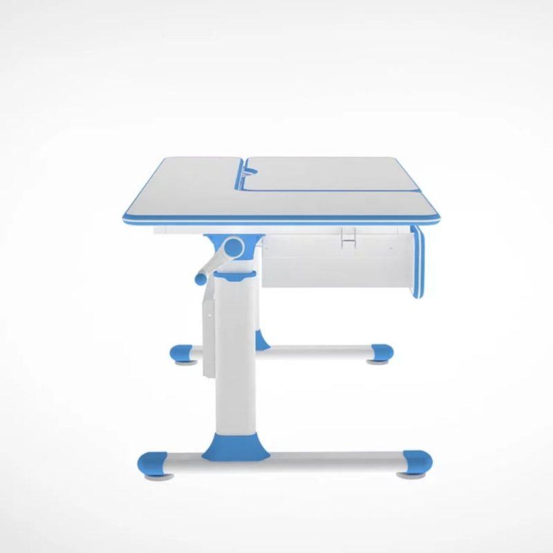 Biurko regulowane dla dziecka Fun Desk Cubby Toru Blue z boku
