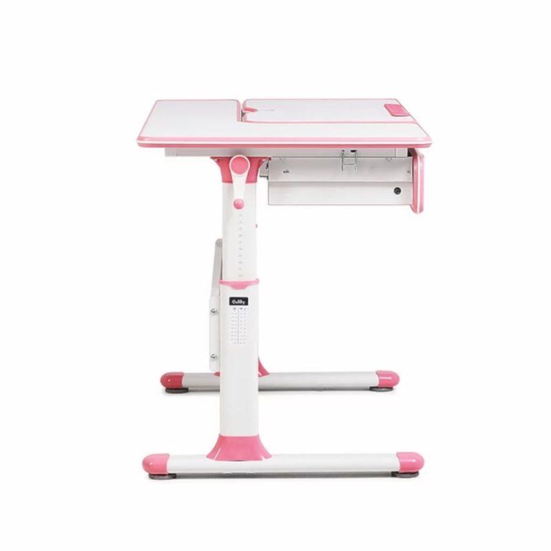 Biurko regulowane dla dziecka Fun Desk Cubby Toru Pink z boku