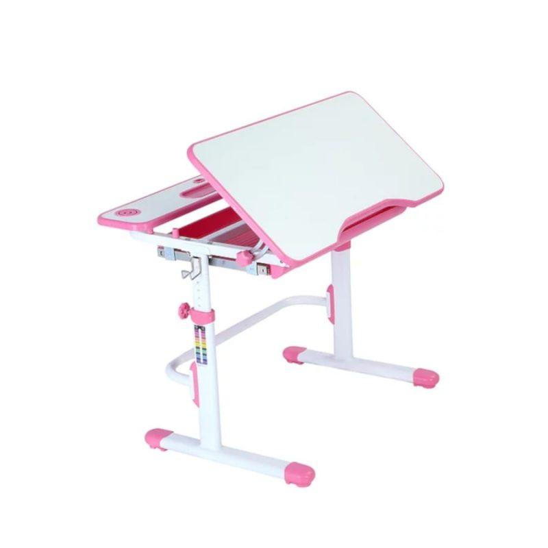 Biurko regulowane dla dziecka Fun Desk Freessia Pink blat ruchomy