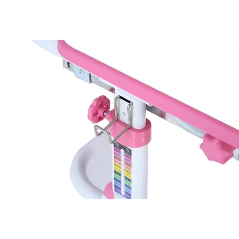 Biurko regulowane dla dziecka Fun Desk Freessia Pink wieszak na plecak