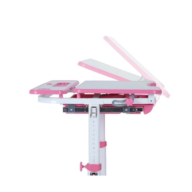 Biurko regulowane dla dziecka Fun Desk Freessia Pink z boku