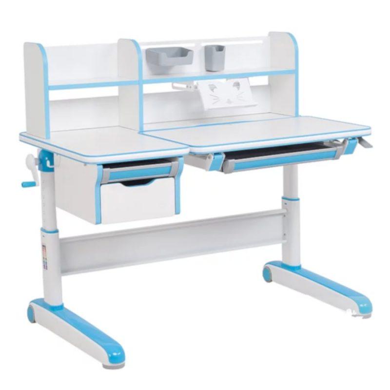 Biurko regulowane dla dziecka Fun Desk Libro Blue Niebieskie