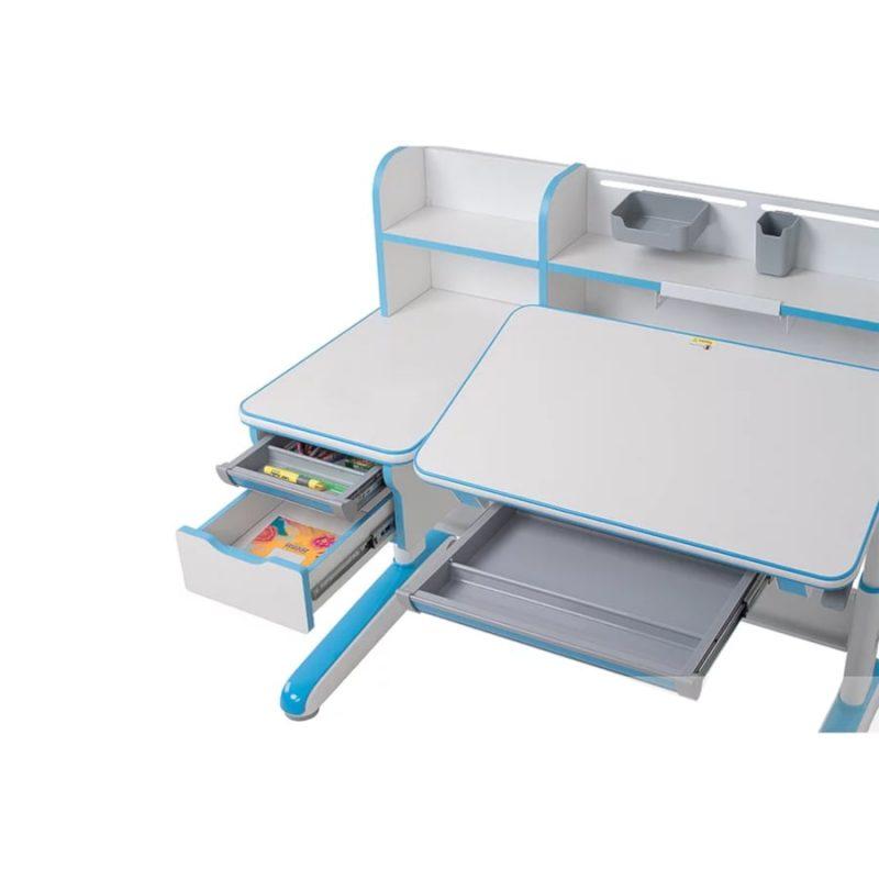 Biurko regulowane dla dziecka Fun Desk Libro Blue pochylany blat
