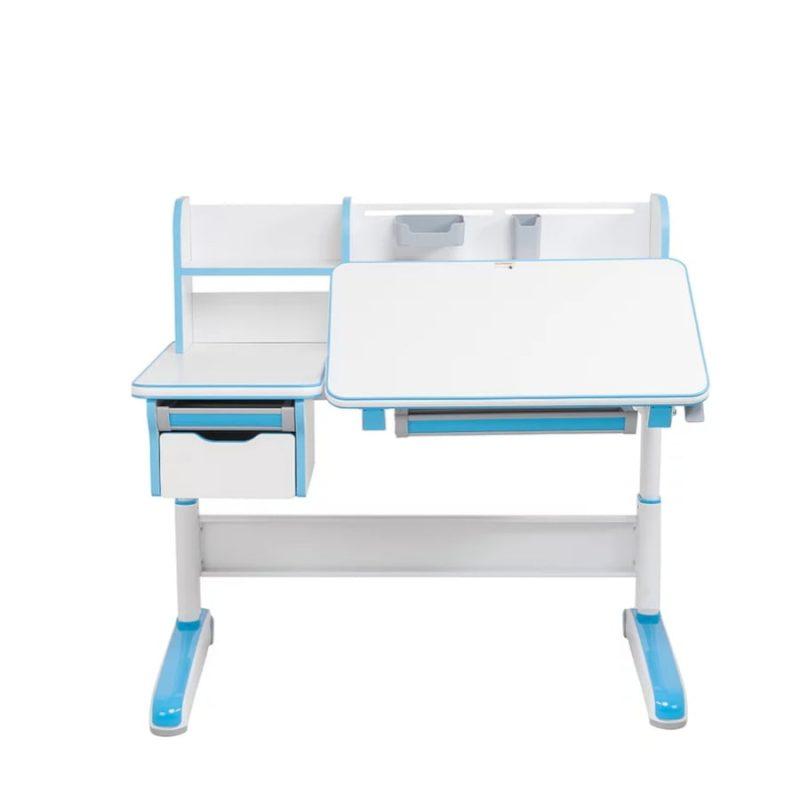 Biurko regulowane dla dziecka Fun Desk Libro Blue widok z przodu