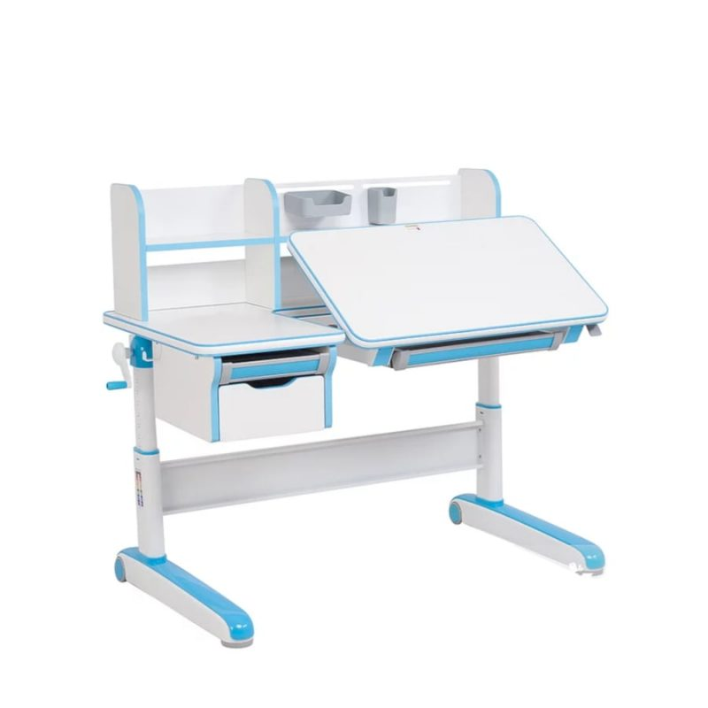 Biurko regulowane dla dziecka Fun Desk Libro Blue Blat regulowany