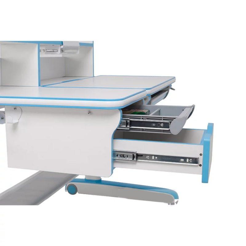 Biurko regulowane dla dziecka Fun Desk Libro Blue z szufladami