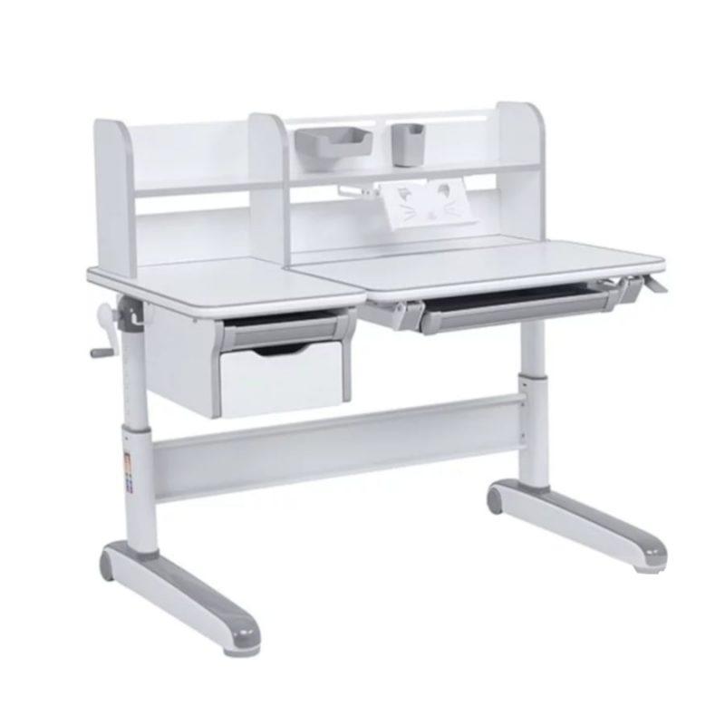 Biurko regulowane dla dziecka Fun Desk Libro Grey Szare