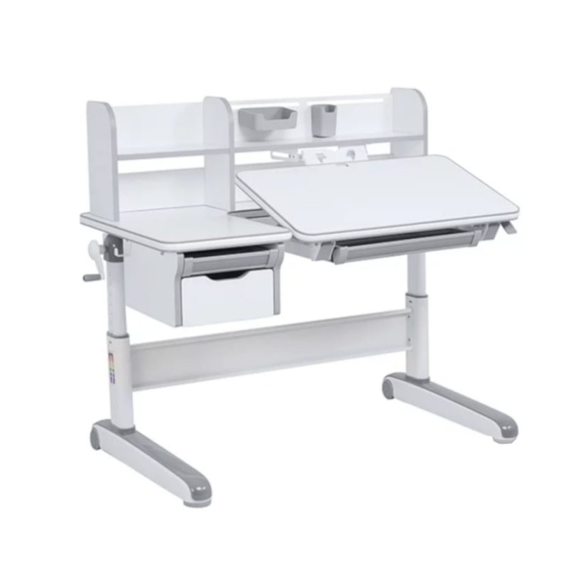 Biurko regulowane dla dziecka Fun Desk Libro Grey Blat regulowany