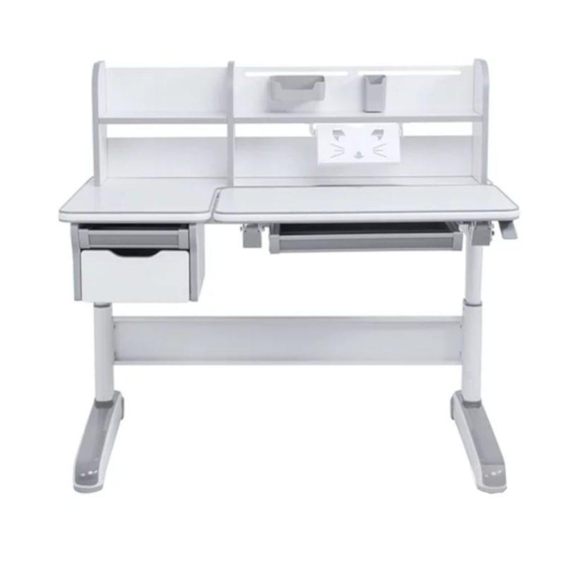 Biurko regulowane dla dziecka Fun Desk Libro Grey widok z przodu
