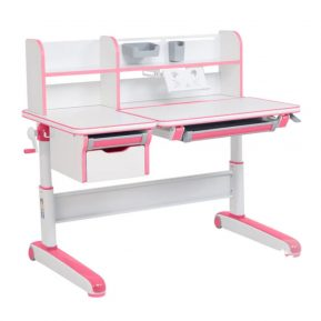 Biurko regulowane dla dziecka Fun Desk Libro Pink Różowe