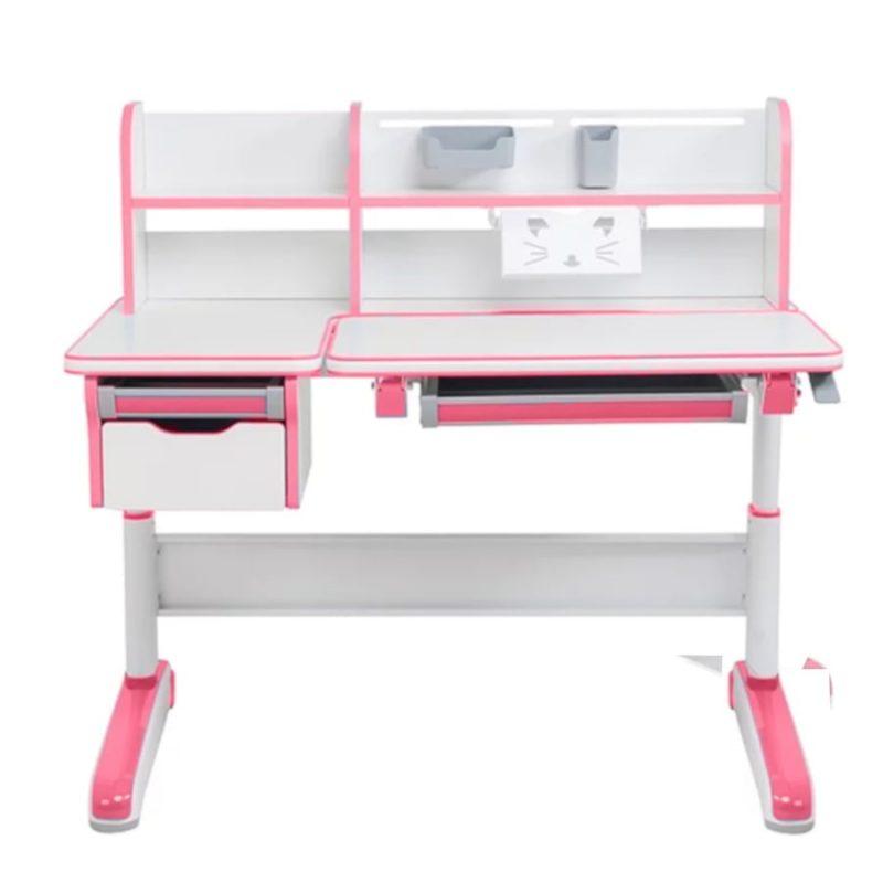 Biurko regulowane dla dziecka Fun Desk Libro Pink widok z przodu
