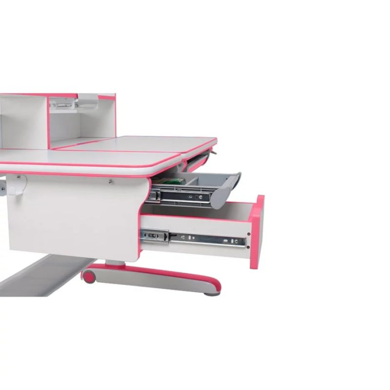 Biurko regulowane dla dziecka Fun Desk Libro Pink z szufladami