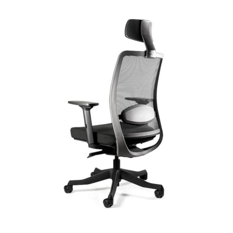 Fotel ergonomiczny Unique ANGGUN Czarna Siatka 1199-B z tył
