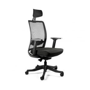 Fotel ergonomiczny Unique ANGGUN Czarna Siatka 1199-B Biurowy