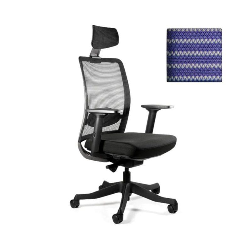 Fotel ergonomiczny Unique ANGGUN Szara Siatka 1199-B-SM03